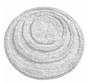bathroom spa 24 034 round rug white mat bath decor non