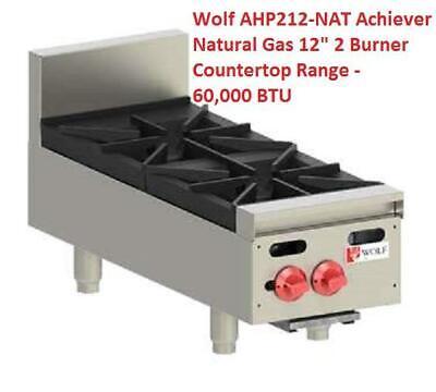 Wolf Ahp212-nat Achiever Natural Gas 12 2 Burner Countertop Range - 60000 Btu