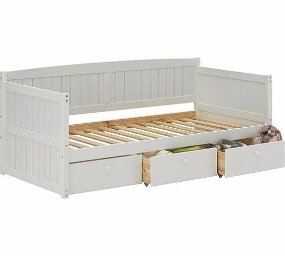 marnie single daybed with drawers white in aston west midlands gumtree. Black Bedroom Furniture Sets. Home Design Ideas