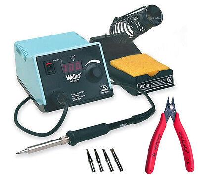 Weller Wesd51 Digital Soldering Station 50 Watt Iron 170m Cutter 4 Extra Tips