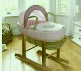 Kinder valley my little rocker moses basket. Pink. Brand new. 3 left in stock.