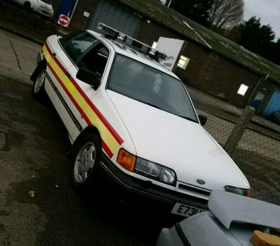 Ford granada police car ( show car not sierra escort cosworth)