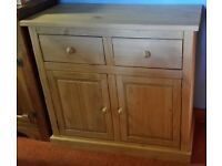 Two Door Pine Sideboard with Drawers
