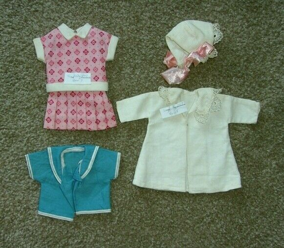 "#2a VINTAGE 12"" SHIRLEY TEMPLE Handmad Doll Clothes from Simplicity Pattern 2717"