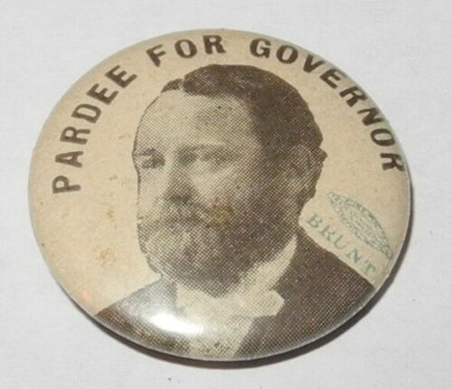 1902 George Pardee California Governor Campaign Political Button Coin Medal Pin