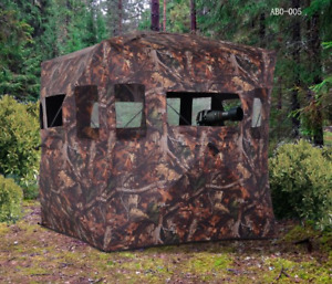 Portable Hunting Ground Blind w/ Carry Bag Camouflage - NO TAX