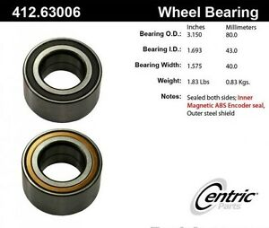 Wheel Bearing avant NEUF pour Patriot Compass Caliber RVR Lancer