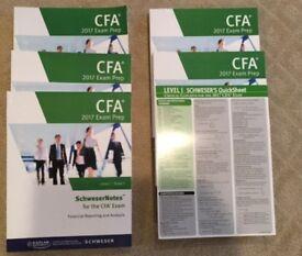 CFA Level I Schweser notes + Exam Practice books + Quicksheet 2017