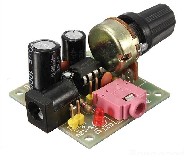 LM386 MINI Mono Amplifier Module 3V-12V - USA Seller