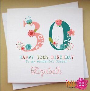 Mum 60th birthday card ebay personalised birthday card mumsisterfriend 30th40th50th60th bookmarktalkfo Choice Image