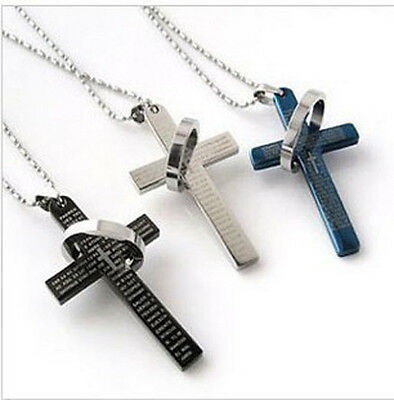 Cheap Fashion Mens Stainless Steel Cross Ring Chain Pendant Necklace HICA](Cheap Necklaces)