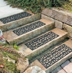 Outdoor Decorative Rubber Stair Treads Non Slip Deck Patio