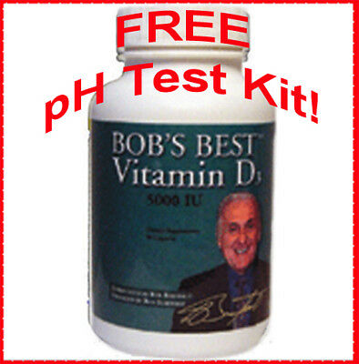 Bob's Best Vitamin D3! - Bob Barefoot EXP. 10/19 + FREE saliva pH test