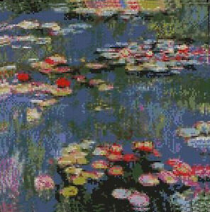 Monet Water Lilies Counted Cross Stitch Kit 10