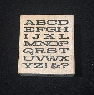 Rubber Stamp Alpha Background Alphabet Letters Memory Box Worn Font E996
