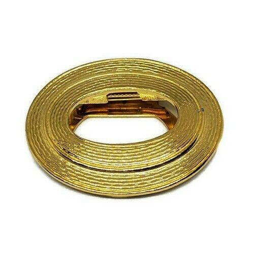 Anne Klein For Nordstrom Vintage Oval Gold Tone Scarf Clip New NOS