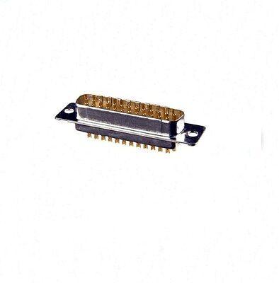 D-Sub Steckverbinder 25-polig, Stecker, male, mit Lötkelch, Stiftstecker 1St.