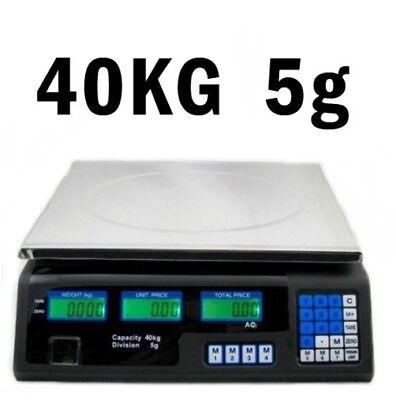 Preisrechenwaage 40 kg 5 g Digital Waage Ladenwaage Kassenwaage (23 x 34 cm)
