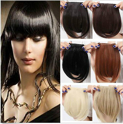 Girls Straight Synthetic Hair Fringe Bang Hairpiece Clip-In Front Hair Extension ()