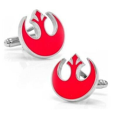 Cufflinks Novelty * Movies, Games, TV * Star Wars X-Wing Emblem Red