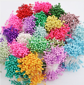 floral craft supplies 500pcs plain headed flower stamens cake decorate 2028