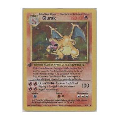 1st Ed Edition German Charizard GLURAK 4/102 Holo Ultra Rare Foil Pokemon Card