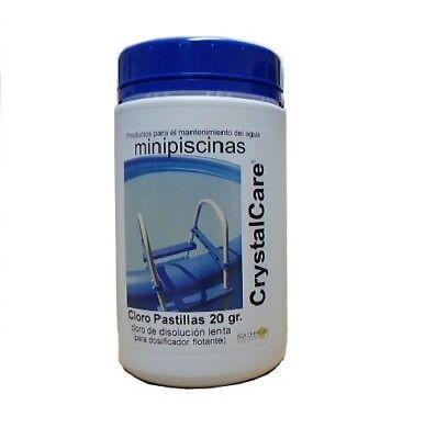 Cloro en pastillas Tricloro 90%. Tabletas de 20 gr. Bote 1 Kg.