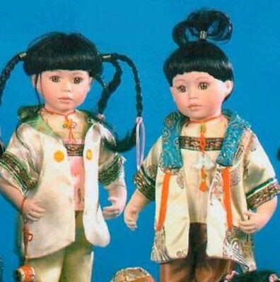 "Job Lot of 12 Vanity Fair 16"" Chinese Boy/Girl Dolls (2 assorted)"