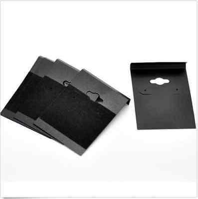 Free Ship 50pcs Black Ear Hooks Earring Plastic Display Cards 6.2x4.5cm
