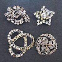 Vintage Rhinestone Brooches & Yves St. Laurent Makeup Bag