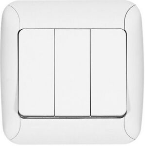 3 er serienschalter 3 er steckdose wechselschalter dimmer kreuzschalter blenden ebay. Black Bedroom Furniture Sets. Home Design Ideas