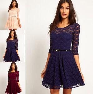 3/4 sleeve lace dress- new with tags