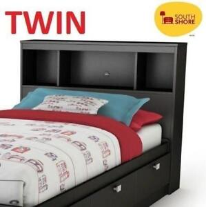 NEW SOUTH SHORE TWIN HEADBOARD 3270098 210357543 BOOKSHELF SPARK COLLECTION BOOKCASE BLACK