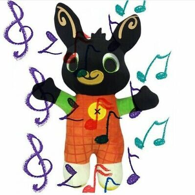 BING Peluche, Musica, Parlante, Lingua Italiana, Cantante, Coniglio, 45CM Bunny