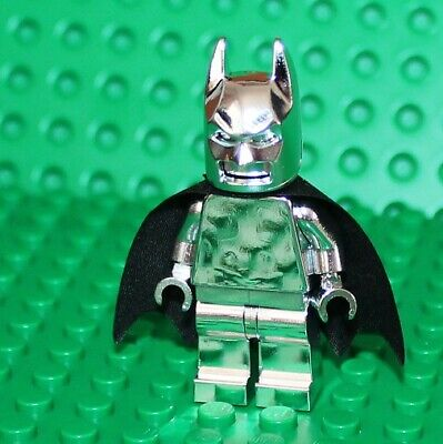 Lego Silver Chrome Batman Minifigure NEW!!