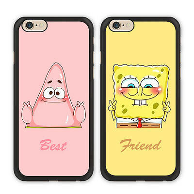 BFF Spongebob Patrick Best Friend Case For iPhone X Xs Max Xr 8 7 6 Galaxy S9