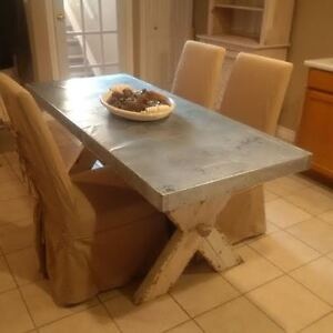 TRESTLE TABLE 6 FT METAL TOP