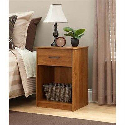 منضدة جانب السرير جديد Nightstand End Table Night Stand Bedside Living Room Bedroom Wood Furniture