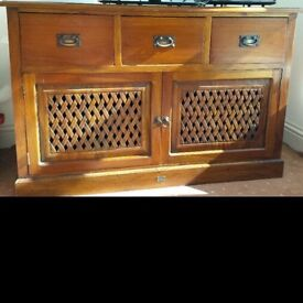 Ancient Mariner solid wood sideboard tv console very heavy