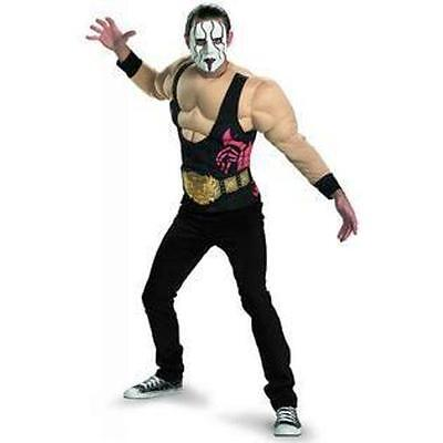 Sting Muscle Costume Adult Wrestling Professional Wrestler Halloween Fancy Dress - Wrestling Halloween Costume