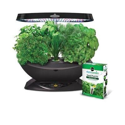 Miracle Gro AeroGarden LED Gardening Lawn Be keen on Patio Gourmet Herb Seed Pod Kit