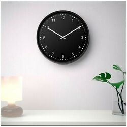 Brand NEW : IKEA BONDIS Wall Clock Black (New In Box / Never Opened)