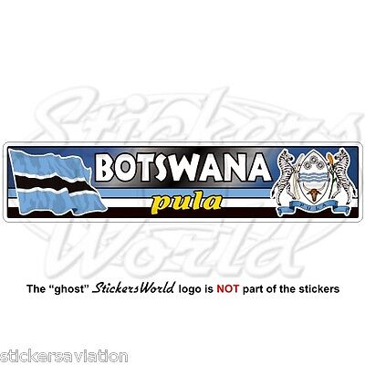 BOTSWANA Flag-Coat of Arms Southern Africa Botswanian Vinyl Bumper Sticker Decal