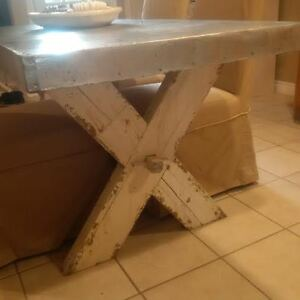 6 FT METAL TOP TRESTLE TABLE Windsor Region Ontario image 2