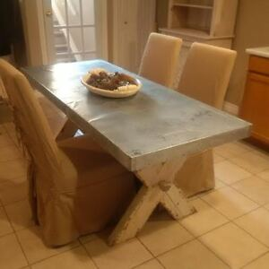 6 FT METAL TOP TRESTLE TABLE Windsor Region Ontario image 1