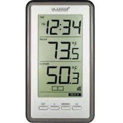 WS-9160U-IT-CBP LA CROSSE CLOCK WIRELESS THERMOMETER DIGITAL WALL DESKTOP NEW