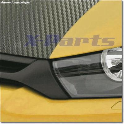 Carbonfolie schwarz flexibel für die Motorhaube 1,5m