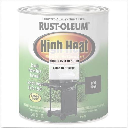 Rust-Oleum 778502 Specialty High Heat Protective Enamel, Sat