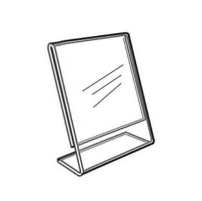 Acrylic Slanted Counter Sign Photo Display Holder Stand 5 X 7