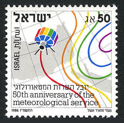 Israel 952, MNH. Meteorological Service, 50th anniv. 1986
